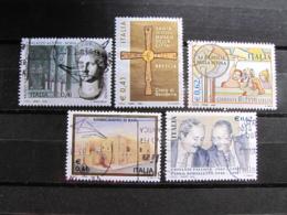 *ITALIA* LOTTO 5 USATI 2002 - PATRIMONIO ARTISTICO FILATELIA SANNICANDRO FALCONE - 6. 1946-.. Repubblica