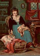 CHROMO  MAISON DU BON MARCHE Mme DALIDET LIBOURNE  LA MAMAN ET SON BEBE - Trade Cards