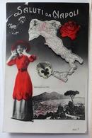 AK Italien Saluti Da Napoli 1913 Gebraucht #PE103 - Italy