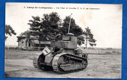 Camp De Coëtquidan  -  Un Char De Combat T S F - Francia