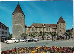 Yverdon: DKW F102, MORGAN PLUS 8, CITROËN AMI BREAK, RENAULT 4 - Le Chateau - (Suisse/Schweiz) - Toerisme