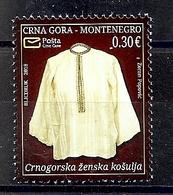 MONTENEGRO 2018,ART,HERITRAGE,FEMALE SHIRT,,MNH - Montenegro