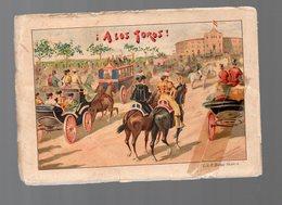 (tauromachie) Livret Dépliant  A LOS TOROS Avec 12 Images En Couleur (PPP16707) - Livres, BD, Revues