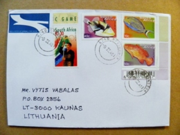 Cover South Africa RSA Fauna Animals Fishes Poissons Olympic Games Flag 2000 - Afrique Du Sud (1961-...)