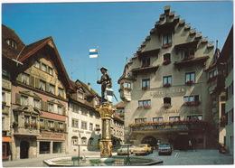 Zug: MERCEDES W123, DATSUN LAUREL 200 L COUPÉ, RENAULT 16 TX - Hotel Ochsen,Gasthaus Linde & Z. Friede (Suisse/Schweiz) - Toerisme