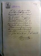 """Documento """"FATTORIA GUCCIARDINI CERTALDO - RICEVUTA"""" 1 Giugno 1897 - Ex-libris"""