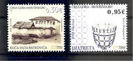 MONTENEGRO 2018,CULTURAL HERITRAGE,DIATRETA,HOUSE OF RASTKO RISTOVIC,MNH - Montenegro