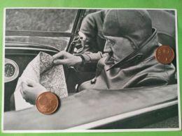 GERMANIA  ALLEMAGNE  GERMANY  Hadolf Hitler In Auto NAZISMO PROPAGANDA - Oorlog 1939-45