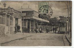 """1 Cpa Toulon - Mourillon - Station Des Bains """"tramway"""" - Toulon"""