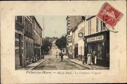 Cp Villiers Sur Marne Val De Marne, Rue De Paris, Les Comptoirs Francais, Succursale No. 439 - Francia