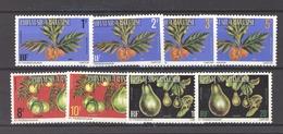 Polynésie  -  Services  -  1977  :  Yv   1...10  **  8 Valeurs , Gomme Mate, Dentelé 12,1/2 - Service