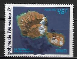 POLYNESIE  Française    -  1992 .  Y&T N° 405 Oblitéré .    L' Ile, Vue De L'espace. - Polynésie Française