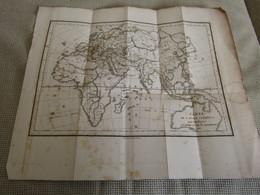 Carte De L`ancien Continent Pour L`Intelligence Du Voyage Du Jeune Anacharsis 1788 - Cartes Géographiques