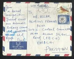 Saudi Arabia Slogan Postmark Air Mail Postal Used Cover RIYADH To Pakistan  Birds Animal - Saudi Arabia