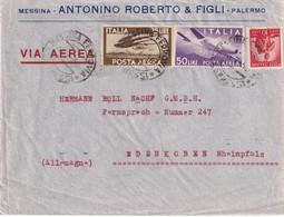 ITALIE  1950 PLI AERIEN DE MESSINA - 6. 1946-.. Repubblica