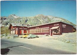 Grimsel-Paßhöhe: AUSTIN A50 CAMBRIDGE '57, VW T1 KOMBI-BUS 'MILLA' - Restaurant Alpenrösli - Bazar - (CH.) - Toerisme