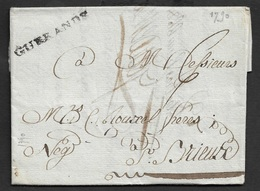 1790 - LAC - GUERLANDE 38mm X 4mm. Ind. 13 - Marcophilie (Lettres)