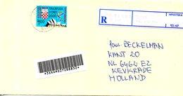 CROATIE. Timbre De Bienfaisance De 2000 Sur Enveloppe Ayant Circulé. J.O. Paralympique De Sydney. - Sommer 2000: Sydney - Paralympics