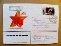 Cover From Tajikistan Registered Dushambe Sent To Ukraine 1995 Overprint General De Gaulle France - Tajikistan