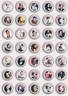 35 X Billie Holiday Music Fan ART BADGE BUTTON PIN SET 1 (1inch/25mm Diameter) - Music