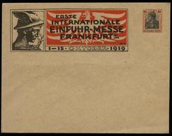 S3190 - DR 30 Pfg Germania GS Privat Umschlag: Einfuhr Messe Frankfurt 1919 , Ungebraucht. - Ganzsachen