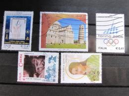 *ITALIA* LOTTO 5 USATI 2002 - ACQUA PISA TORINO 2006 GORETTI CINEMA - 6. 1946-.. Repubblica