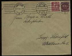 S2947 DR Infla MiF Firmen Briefumschlag ,Berger: Gebraucht Leipzig 1923 ,Bedarfserhaltung. - Lettres & Documents