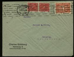 S2870 DR Infla MiF Firmen Briefumschlag Göthberg: Gebraucht Hamburg - Leipzig , 1922 , Bedarfserhaltung. - Lettres & Documents
