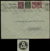 S2858 DR Infla MiF Auf Firmen Briefumschlag Lichtbild: Gebraucht Dresden - Leipzig 1922 , Bedarfserhaltung , Gefaltet. - Lettres & Documents