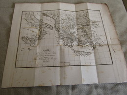 Carte De La Gr`ce Et Ses Iles  Pour Le Voyage Du Jeune Anacharsis Dressée Par M.Barbié Du Bocage 1768 - Mapas Geográficas