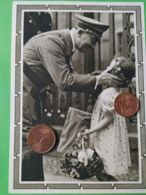 GERMANIA  ALLEMAGNE  GERMANY  Cartolina Postale  Hitler Saluta Una Bambina NAZISMO PROPAGANDA - Guerra 1939-45