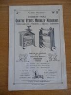 Plan PEUGEOT - Comment Faire... N° 5 - Comment Faire QUATRE PETITS MEUBLES MODERNES - Advertising