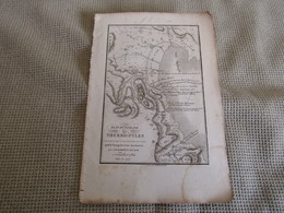 Carte Plan Du Passage Des Thermo-Pyles Pour Le Voyage Du Jeune Anacharsis Dressée Par M.Barbié Du Bocage 1784 - Mapas Geográficas