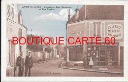 77- AVON - CARREFOUR RUE GAMBETTA ET RUE ROCHER - Avon