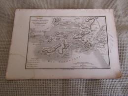 Carte Plan Du Combat De Salamine Pour Le Voyage Du Jeune Anacharsis Par M.Barbié Du Bocage 1785 - Mapas Geográficas