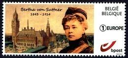 Belgie Belgium 2018 - Bertha Von Suttner, Nobelprijs Voor De Vrede 1905 - Vredespaleis Den Haag - MiNr 4730 - België