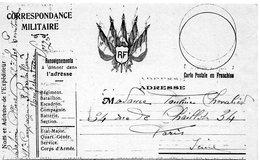 CP- Correspondance  Militaire-  5 Drapeaux- - Marcophilie (Lettres)
