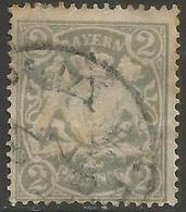 Bavaria - 1888 -1900 Arms 2pf Grey Used    SG 102 - Beieren