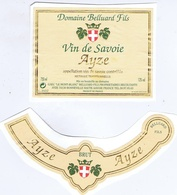 ETIQUETTE - VIN DE SAVOIE - AYZE - Domaine BELLUARD Fils à BONNEVILLE - Blancs
