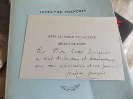 Les Amantes Jocelyne François. DEDICACES SIGNEE - Books, Magazines, Comics