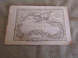 Carte Le Palus Meotide Et Le Pont-Euxin Pour Le Voyage Du Jeune Anacharsis Par J.D.Barbié Du Bocage 1781 - Cartes Géographiques