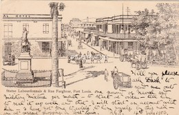 Mauritius    PORT LOUIS Rue Farghuar Artist Pc Mu170 - Maurice