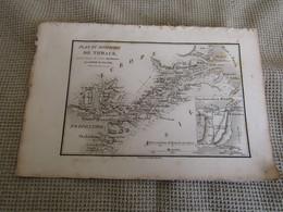 Carte Plan Du Bosphore De Thrace Pour Le Voyage Du Jeune Anacharsis Par J.D.Barbié Du Bocage 1784 - Cartes Géographiques