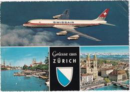 Grüsse Aus Zürich : Douglas DC-8-53 IDB - SWISSAIR - (Suisse/Schweiz/CH.) - 1966- - 1946-....: Modern Tijdperk