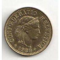 Pièce : Suisse, 5 Centimes. 1988 - Suisse