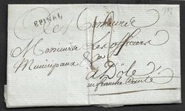 1787 - LAC - EPINAL 19mm X 3mm ( Vosges). Ind 13 - Marcophilie (Lettres)