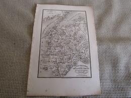 Carte Plan De L`Hellespont De La Chersonèse De Thrace  Pour Le Voyage Du Jeune Anacharsis Par J.D.Barbié Du Bocage 1700s - Geographical Maps