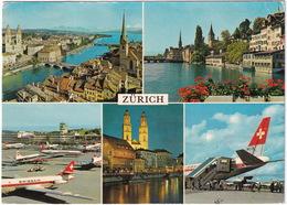 Zürich : 2x Douglas DC-8 IDA SWISSAIR, BEA - Kloten - (Suisse/Schweiz/CH.) - 1946-....: Modern Tijdperk