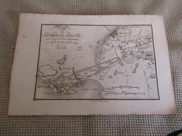 Carte Plan Des Environs D`Athènes  Pour Le Voyage Du Jeune Anacharsis Par J.D.Barbié Du Bocage 1783 - Cartes Géographiques