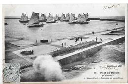 Port-en-Bessin-Huppain.L'avant Port Et Les Barques Au Mouillage. - Port-en-Bessin-Huppain